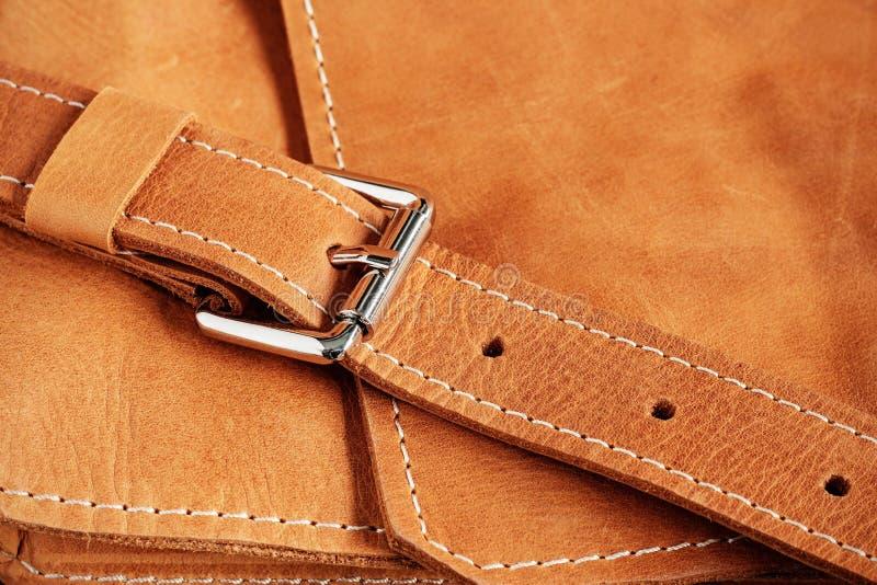 Strutture delle borse di cuoio fotografia stock