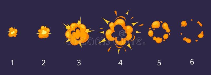 Strutture di esplosione per l'animazione illustrazione di stock