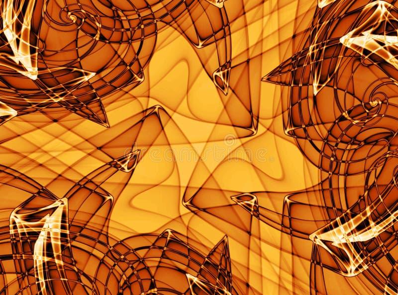 Strutture di Grunge nel colore giallo royalty illustrazione gratis