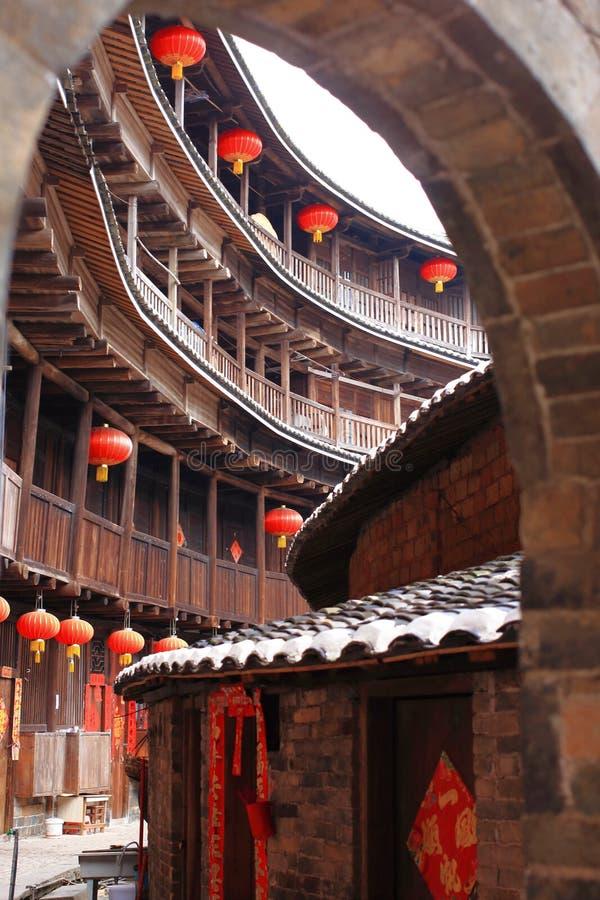 Strutture di terra del Fujian fotografie stock libere da diritti