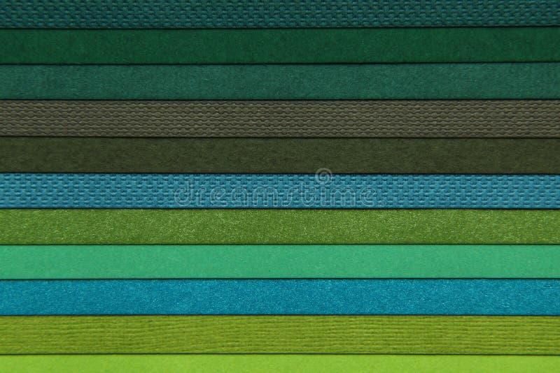 Strutture di varie carte colorate immagini stock