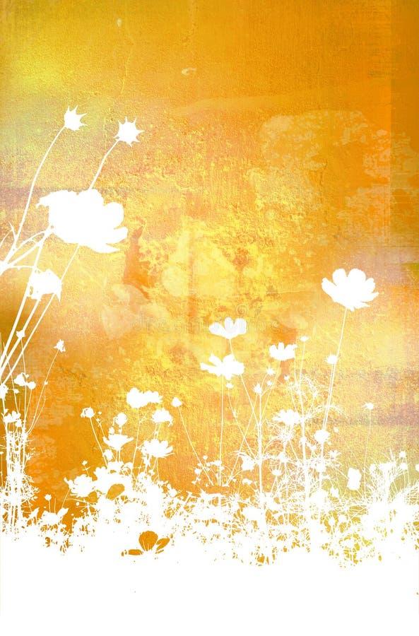 Strutture ed ambiti di provenienza astratti del fiore illustrazione vettoriale