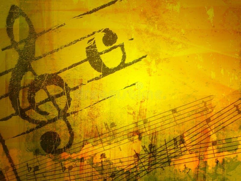 Strutture ed ambiti di provenienza di melodia di Grunge royalty illustrazione gratis