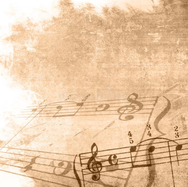 Strutture ed ambiti di provenienza di melodia di Grunge illustrazione di stock