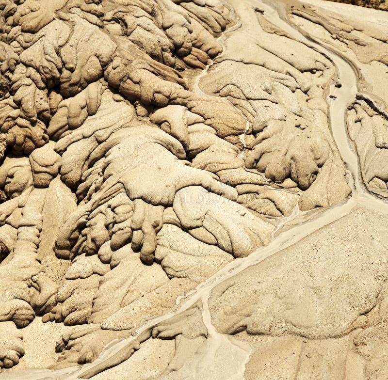 Strutture nella sabbia fotografia stock