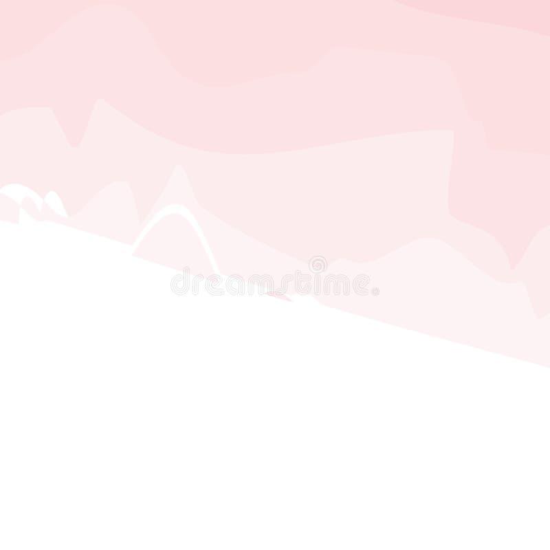 Strutture rosa-chiaro, ambiti di provenienza dipinti a mano astratti dell'acquerello, cartolina d'auguri o modelli dell'invito, i illustrazione vettoriale