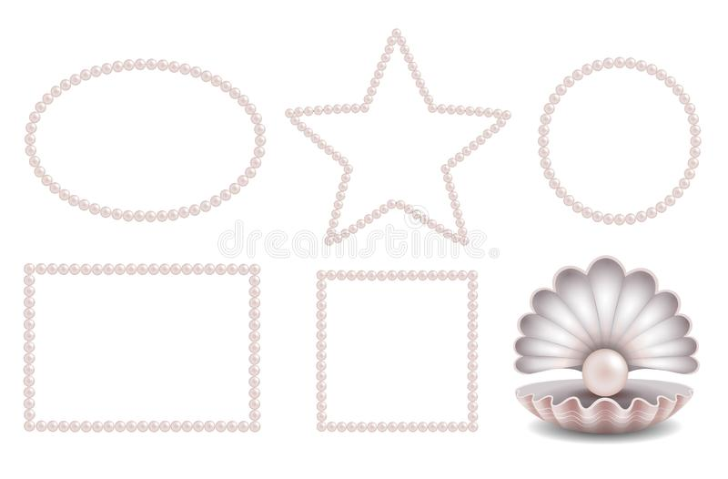 Strutture rosa messe della perla e pearlm rosa nelle coperture royalty illustrazione gratis