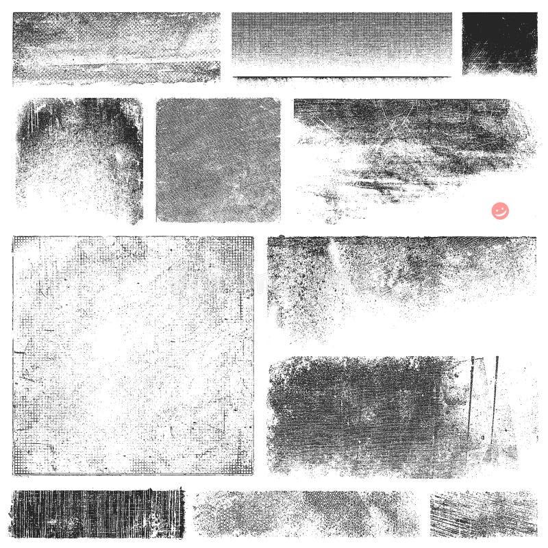 Strutture sporche di vettore illustrazione di stock