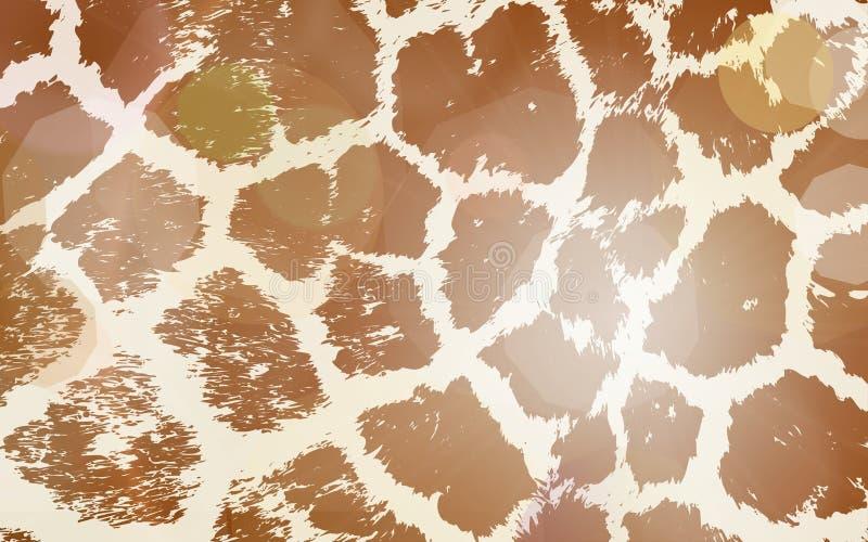 Strutture variopinte della pelle animale della giraffa. illustrazione di stock