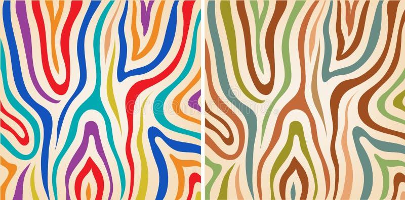 Strutture variopinte stabilite della zebra di vettore illustrazione vettoriale