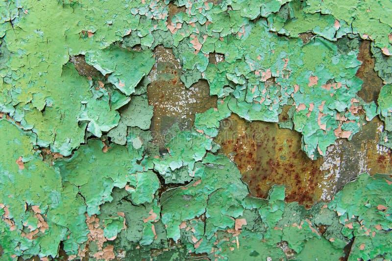 Strutturi il verde arrugginito del metallo immagine stock libera da diritti