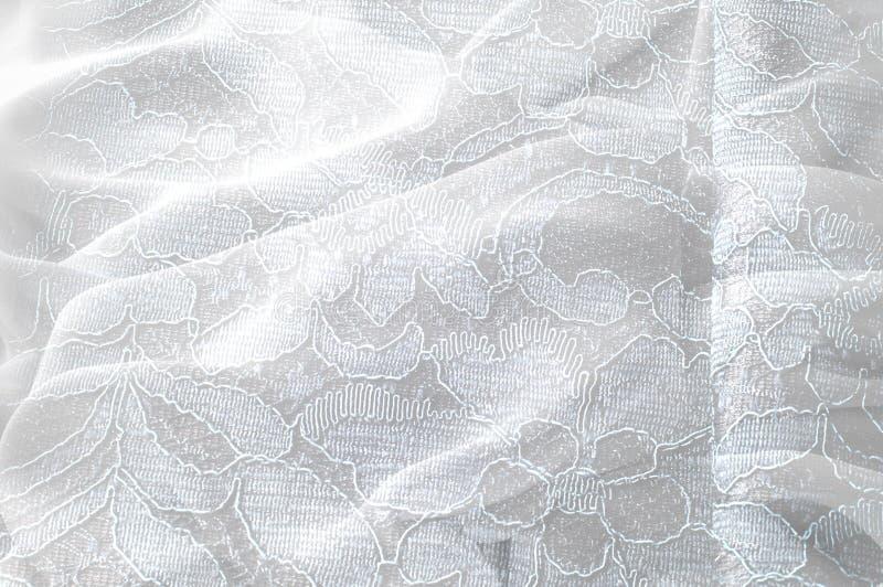 Strutturi l'immagine di sfondo, fondo bianco con il fiore del pizzo tex fotografia stock libera da diritti