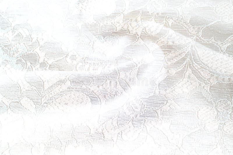 Strutturi l'immagine di sfondo, fondo bianco con il fiore del pizzo tex fotografie stock