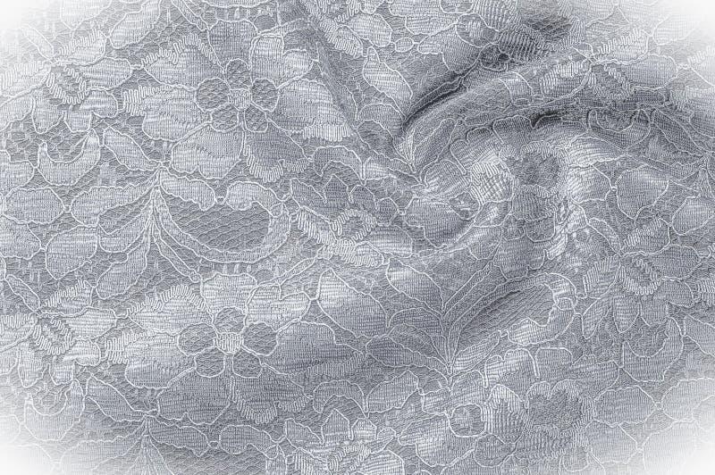 Strutturi l'immagine di sfondo, tessuto in bianco e nero con un modello immagini stock libere da diritti