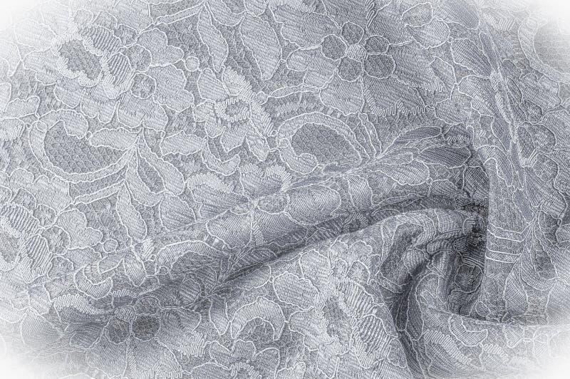 Strutturi l'immagine di sfondo, tessuto in bianco e nero con un modello immagine stock