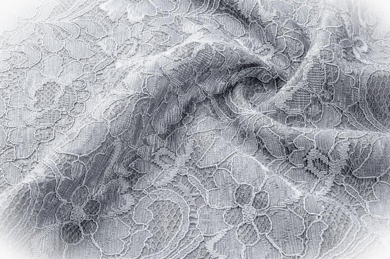 Strutturi l'immagine di sfondo, tessuto in bianco e nero con un modello immagine stock libera da diritti