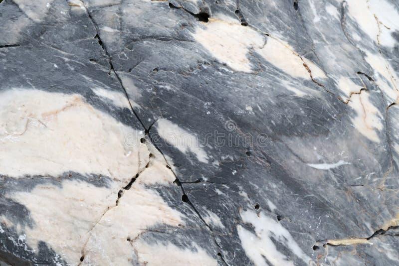 Strutturi la foto della pietra di marmo bianca blu con il modello naturale del calcare fotografie stock libere da diritti