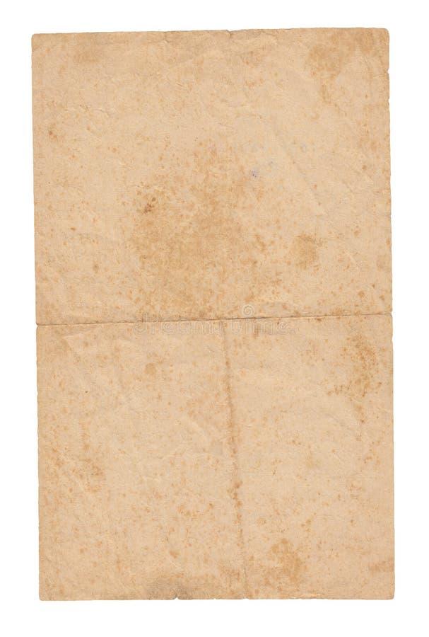 Strutturi la vecchia carta con le tracce di scuffs e di macchie fotografia stock libera da diritti