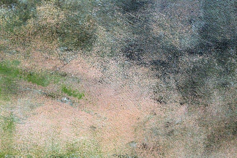 Strutturi le tonalità verdi grige sporche del muro di cemento fotografie stock
