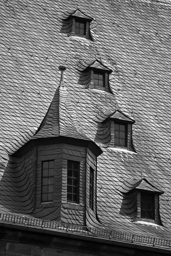 strych dachu tablicy okno zdjęcia stock