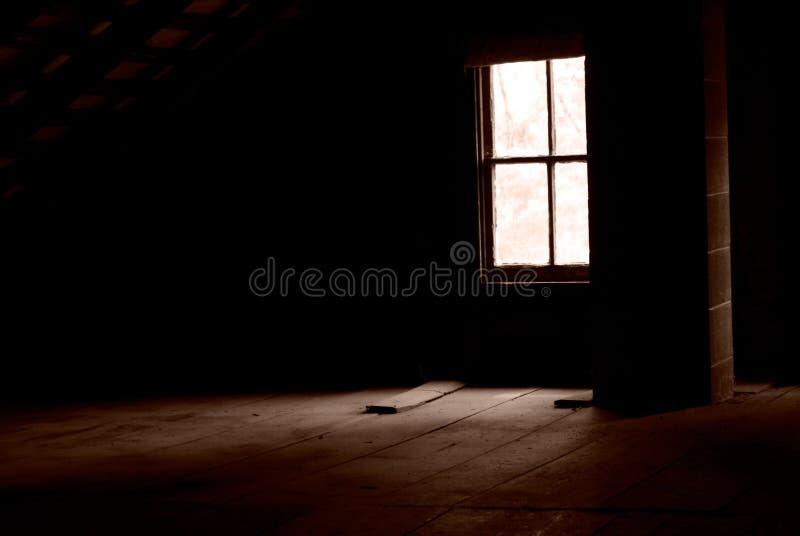 strychowy okno zdjęcia stock