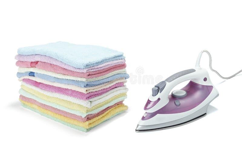stryka för kläder royaltyfria foton