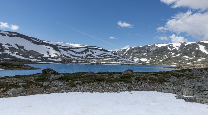 Strynefjellsvegen Gamle в панораме Норвегии стоковая фотография rf