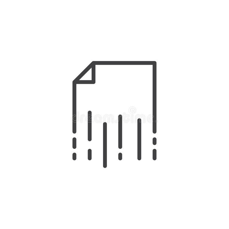 Strzępić papieru konturu ikonę royalty ilustracja