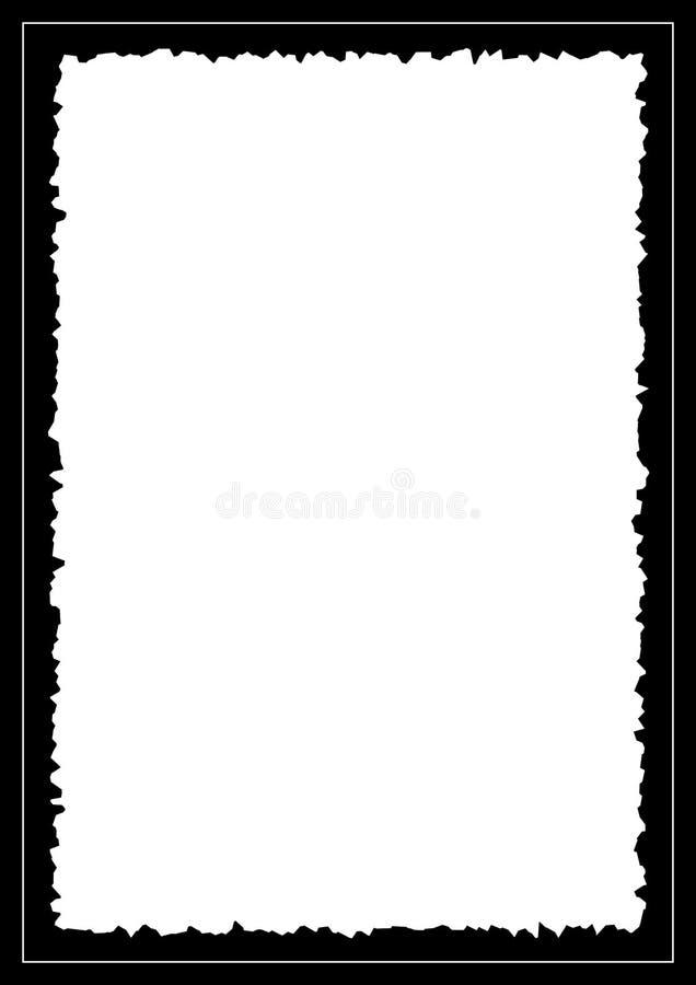 Strzępiasta obrazek rama ilustracja wektor