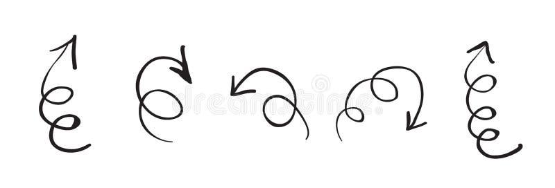 Strzałkowate ikony Kolekcja stylizowana strzała podpisuje dla twój projekta ilustracji