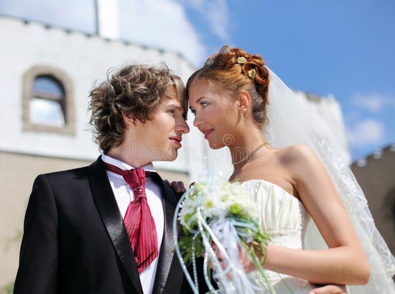 Strzałów potomstwa dobierają się wchodzić do w małżeństwo obraz royalty free