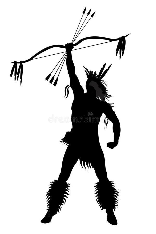 strzała łęku indyjski mężczyzna ilustracja wektor