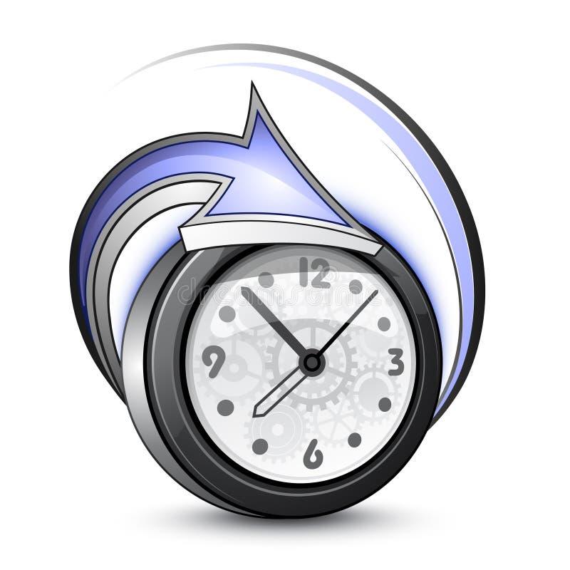 strzała alarmowy zegar ilustracji