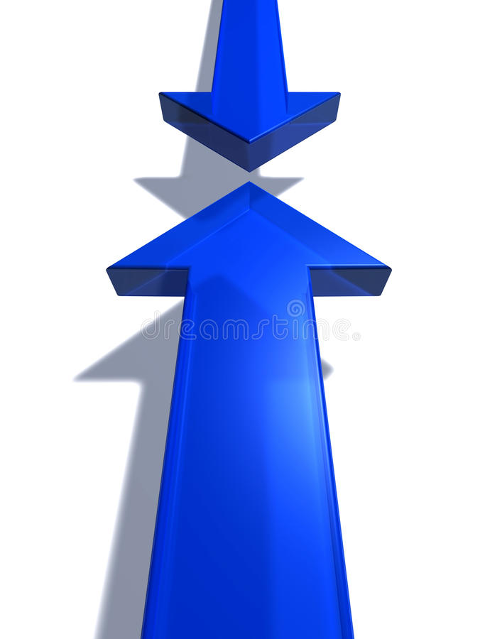 strzała błękit dwa royalty ilustracja