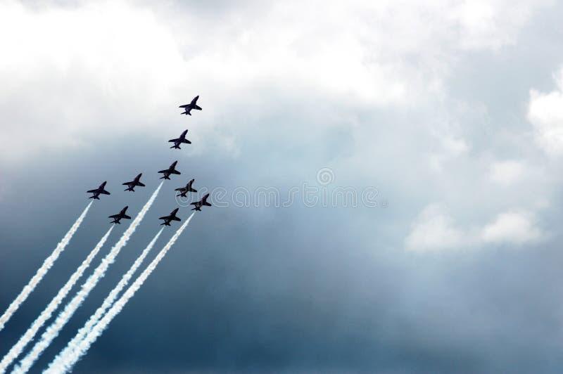strzała Concorde formaci czerwień zdjęcia royalty free