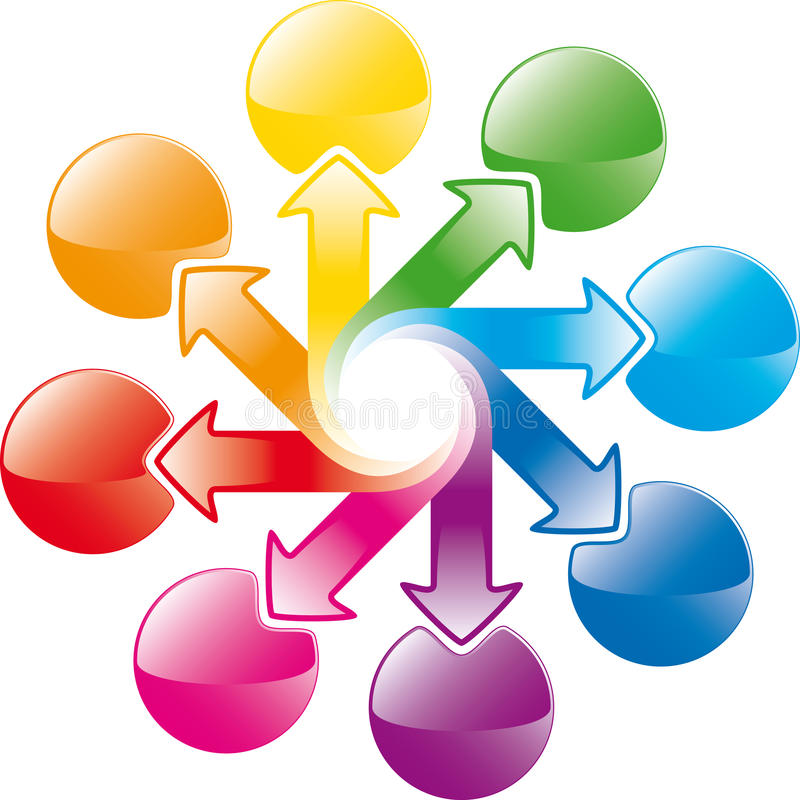 strzała cyklu tęcza ilustracji