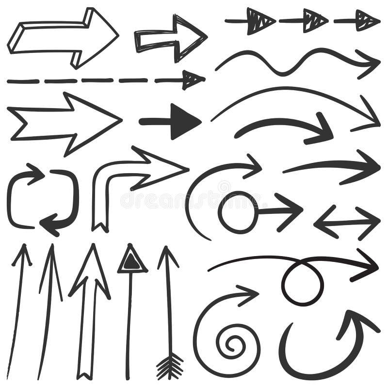 strzała czerń ilustracja wektor