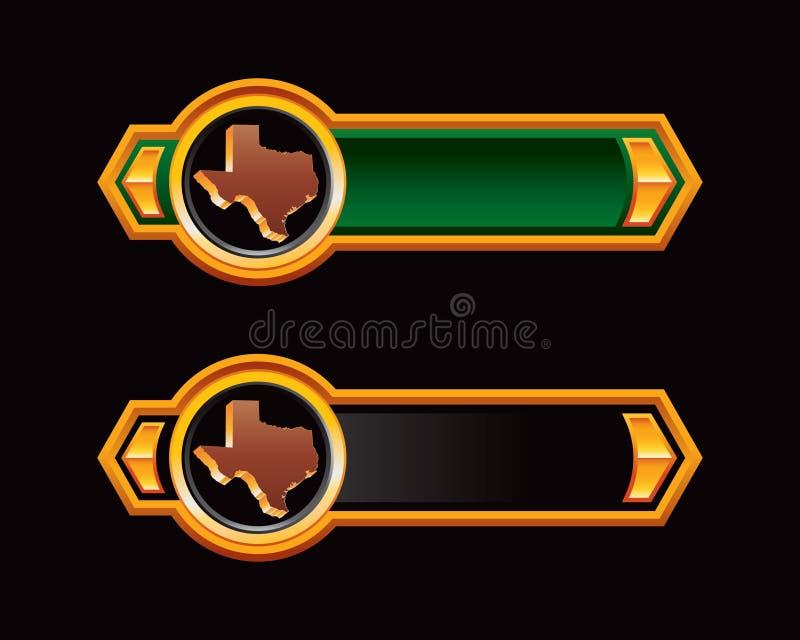 strzała czerń zieleni ikona Texas ilustracji