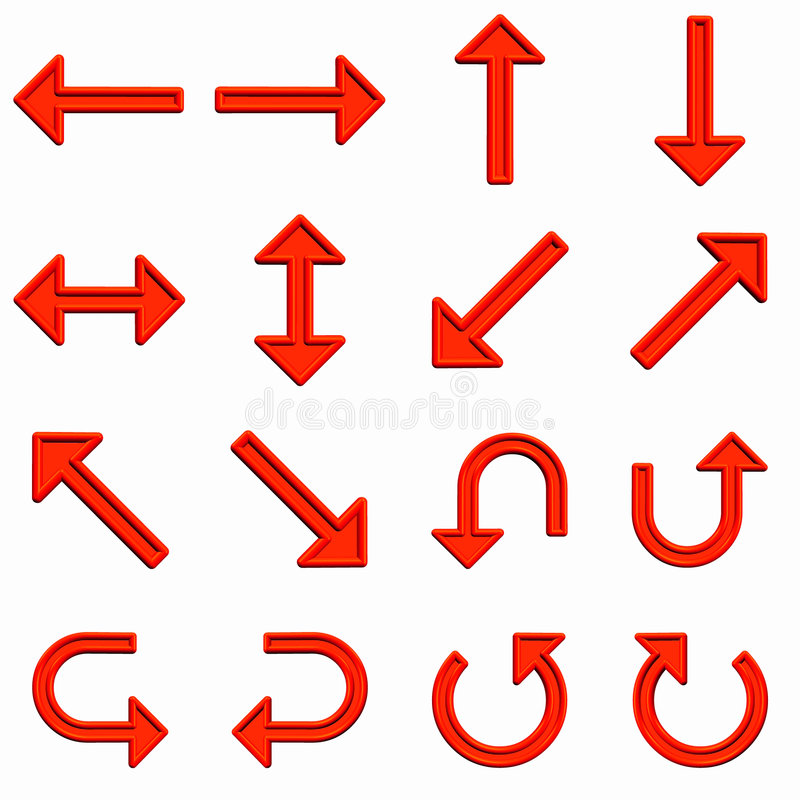 strzała czerwonym zestaw ilustracja wektor