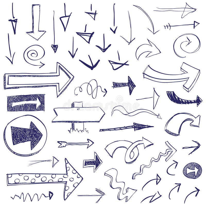 strzała doodle obrazy stock
