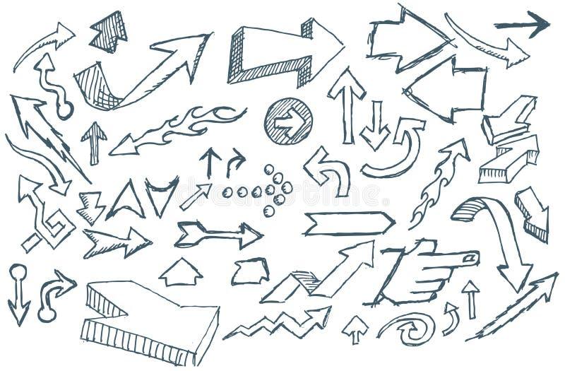 strzała doodle royalty ilustracja
