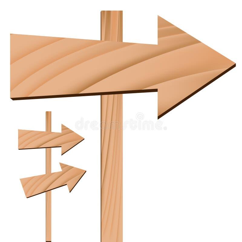 strzała drewniany szyldowy ilustracji