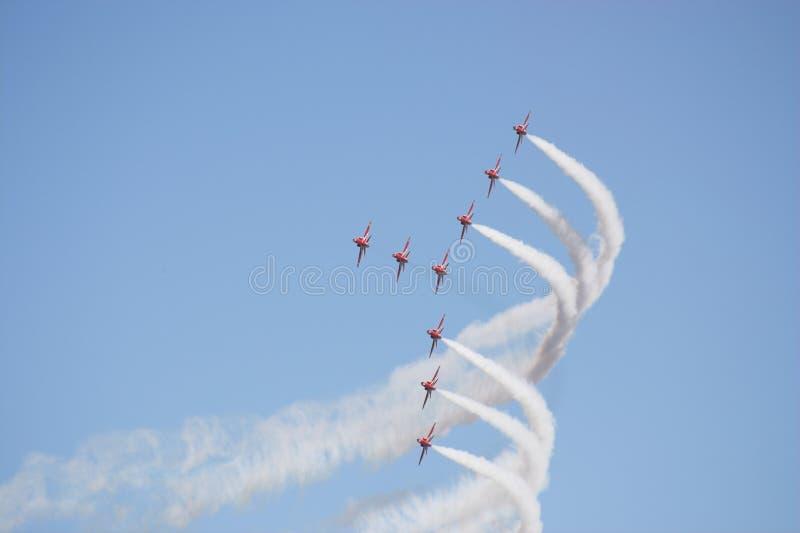 strzała formacji lotu czerwony obrazy stock