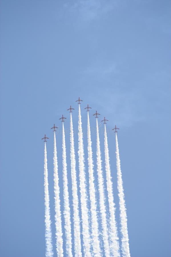 strzała formacji lotu czerwony zdjęcie royalty free