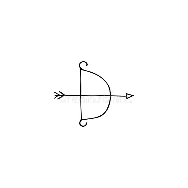 Strzała i łęku loga element ilustracja wektor