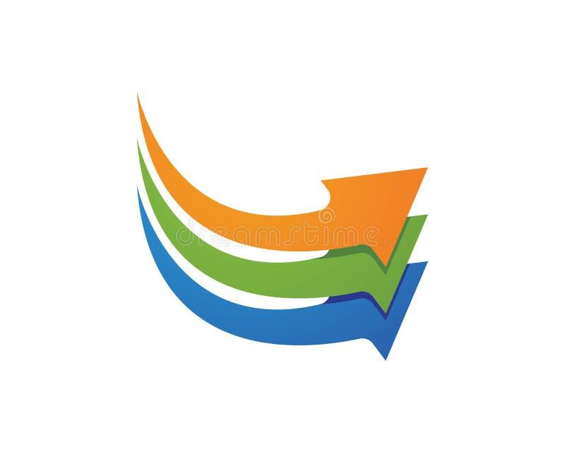Strzała ikony loga szablonu wektorowy ilustracyjny projekt ilustracja wektor