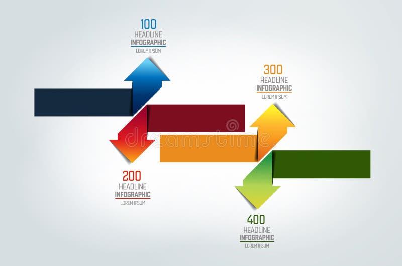 Strzała infographic, mapa, plan, diagram ilustracji