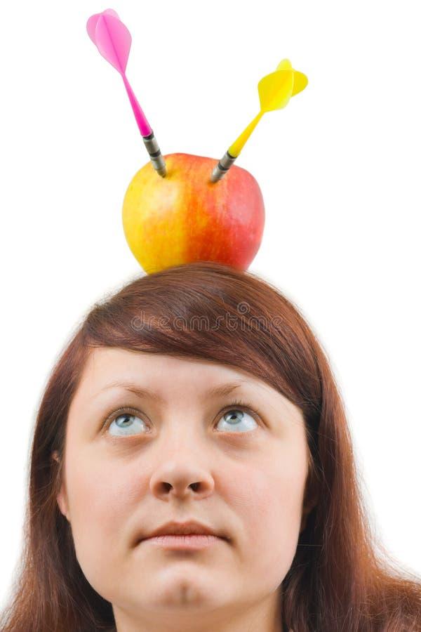 strzała jabłczana kobieta fotografia royalty free