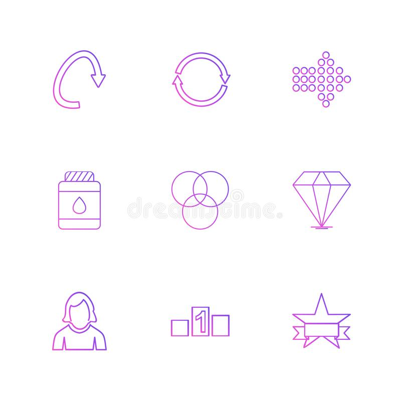 strzała, kierunki, avatar, ściąganie, upload, apps, użytkownik ja royalty ilustracja
