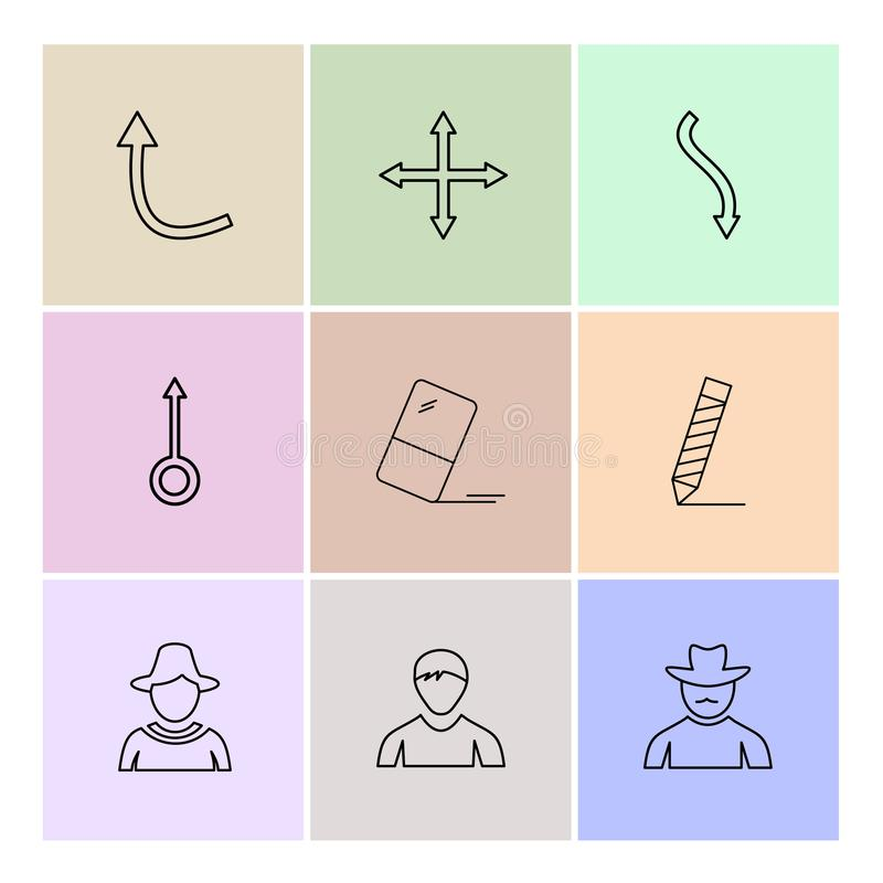 strzała, kierunki, avatar, ściąganie, upload, apps, użytkownik ja ilustracja wektor